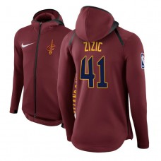 Cleveland Cavaliers #41 Ante Zizic Maroon Showtime Hoodie