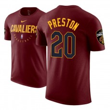 Cleveland Cavaliers #20 Billy Preston Maroon Practice Essential T-Shirt