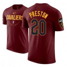 Cleveland Cavaliers #20 Billy Preston Maroon Practice Essential T-Shirt