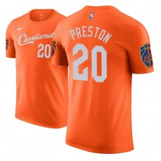 Billy Preston Cavaliers City Edition Orange T-Shirt