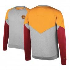 Cavaliers Heathered Gray Hardwood Classics Trading Block Crew Sweater