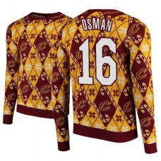 Cleveland Cavaliers #16 Cedi Osman Maroon 2018 Christmas Sweater