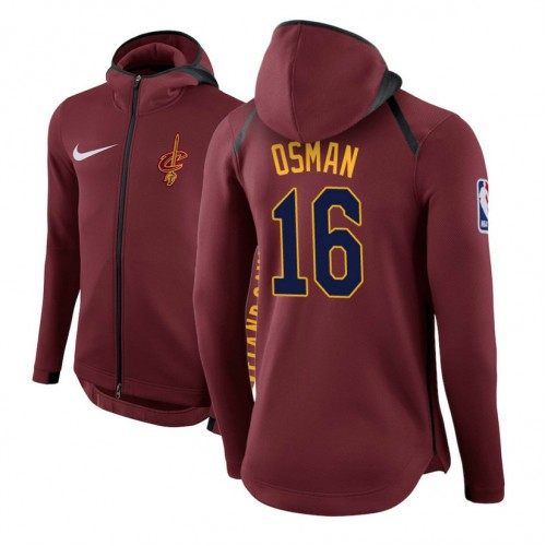 Cleveland Cavaliers #16 Cedi Osman Showtime Hoodie