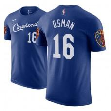 Cleveland Cavaliers #16 Cedi Osman Blue City T-Shirt