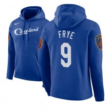 Cleveland Cavaliers #9 Channing Frye Blue City Hoodie