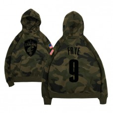 Channing Frye Cavaliers #9 Camo Military Hoodie