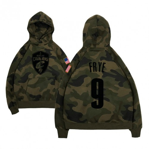 Channing Frye Cavaliers #9 Camo Military Hoodie