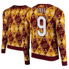 Cleveland Cavaliers #9 Channing Frye Maroon 2018 Christmas Sweater