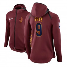 Cleveland Cavaliers #9 Channing Frye Maroon Showtime Hoodie
