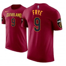 Channing Frye Cavaliers #9 Icon Edition Maroon T-Shirt