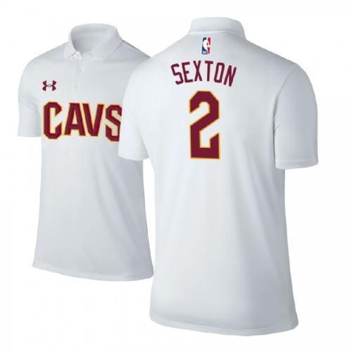 Cleveland Cavaliers #2 Collin Sexton White Association Polo