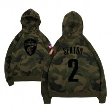 Cleveland Cavaliers #2 Collin Sexton Camo Name & Number Hoodie