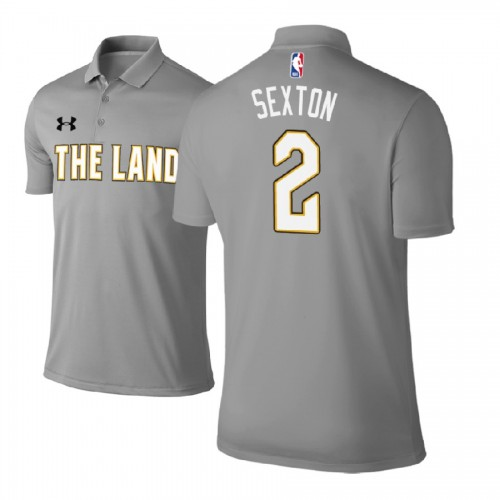 Cleveland Cavaliers #2 Collin Sexton Gray City Polo