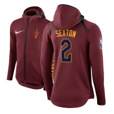Cleveland Cavaliers #2 Collin Sexton Maroon Showtime Hoodie