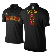 Cleveland Cavaliers #2 Collin Sexton Black Statement Polo