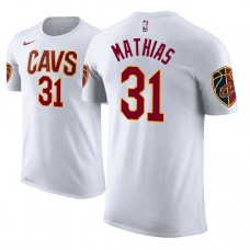 Cleveland Cavaliers #31 Dakota Mathias White Association T-Shirt