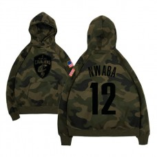 Cleveland Cavaliers #12 David Nwaba Camo Name & Number Hoodie