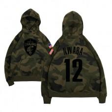 Cleveland Cavaliers #12 David Nwaba Camo Name & Number Hoodie