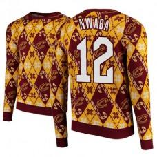 Cleveland Cavaliers #12 David Nwaba Maroon 2018 Christmas Sweater