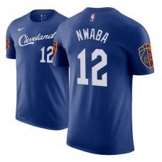 Cleveland Cavaliers #12 David Nwaba Blue City T-Shirt
