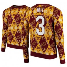 Cleveland Cavaliers #3 George Hill Maroon 2018 Christmas Sweater