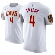 Cleveland Cavaliers #4 Isaiah Taylor White Association T-Shirt