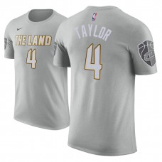 Cleveland Cavaliers #4 Isaiah Taylor Gray City T-Shirt