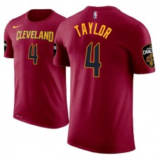 Isaiah Taylor Cavaliers #4 Icon Edition Maroon T-Shirt