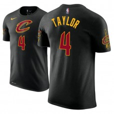 Cleveland Cavaliers #4 Isaiah Taylor Black Statement T-Shirt