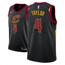 Cleveland Cavaliers #4 Isaiah Taylor Black Statement Jersey