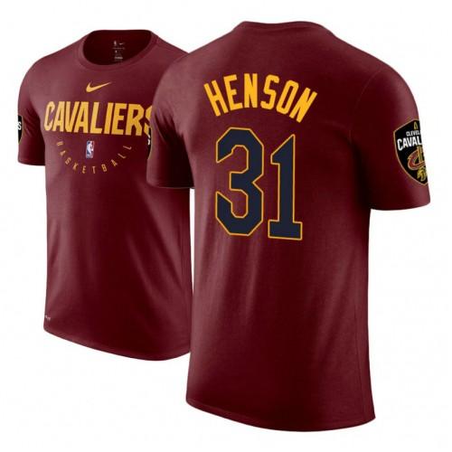 John Henson Cavaliers #31 Maroon Practice Essential T-Shirt