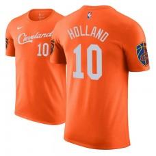 Cleveland Cavaliers #10 John Holland Orange City T-Shirt