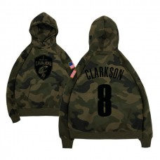 Cleveland Cavaliers #8 Jordan Clarkson Camo Name & Number Hoodie