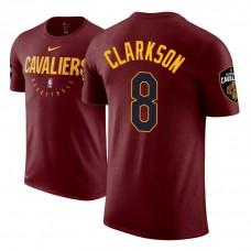 Cleveland Cavaliers #8 Jordan Clarkson Maroon Practice Essential T-Shirt