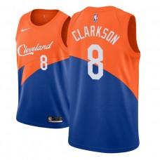 Cleveland Cavaliers #8 Jordan Clarkson Blue City Jersey