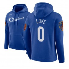 Cleveland Cavaliers #0 Kevin Love Blue City Hoodie