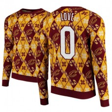 Cleveland Cavaliers #0 Kevin Love Maroon 2018 Christmas Sweater