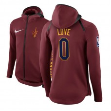 Cleveland Cavaliers #0 Kevin Love Maroon Showtime Hoodie