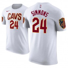 Cleveland Cavaliers #24 Kobi Simmons White Association T-Shirt