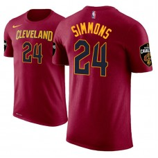 Cleveland Cavaliers #24 Kobi Simmons Maroon Icon T-Shirt