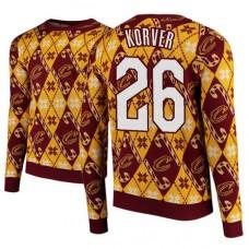 Cleveland Cavaliers #26 Kyle Korver Maroon 2018 Christmas Sweater