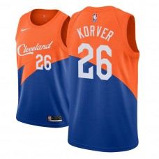 Cleveland Cavaliers #26 Kyle Korver Blue City Jersey