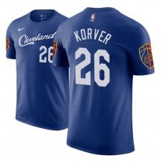 Cleveland Cavaliers #26 Kyle Korver Blue City T-Shirt