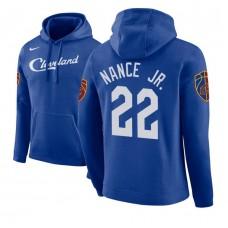 Cleveland Cavaliers #22 Larry Nance Jr. Blue City Hoodie