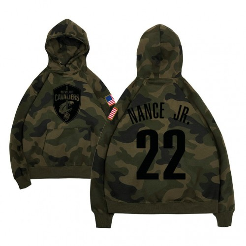 Cleveland Cavaliers #22 Larry Nance Jr. Camo Name & Number Hoodie
