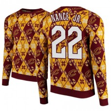 Cleveland Cavaliers #22 Larry Nance Jr. Maroon 2018 Christmas Sweater