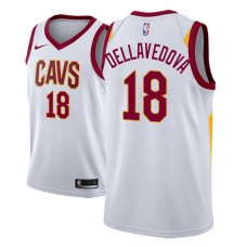 Cleveland Cavaliers #18 Matthew Dellavedova White Association Jersey