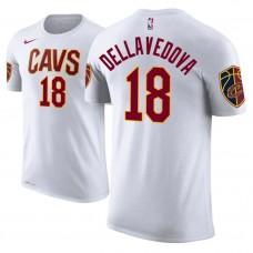Cleveland Cavaliers #18 Matthew Dellavedova White Association T-Shirt
