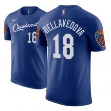 Cleveland Cavaliers #18 Matthew Dellavedova Blue City T-Shirt