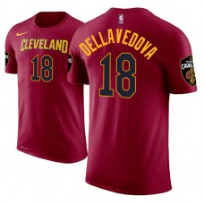 Cleveland Cavaliers #18 Matthew Dellavedova Maroon Icon T-Shirt